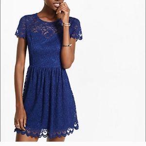 Navy lace dress ( zip back closure )
